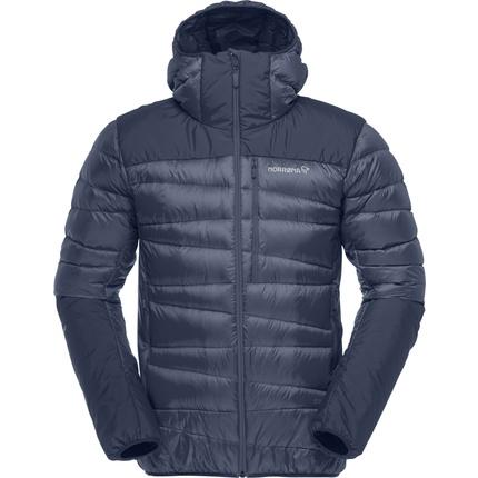 Bilde av: Blå Norrøna Ms Falketind Down 750 Hood Jacket