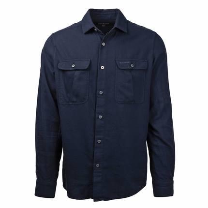 Bilde av: Blå Amundsen Ms Safari Flanel Shirt